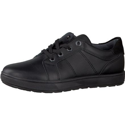 Ricosta ROY Lace Up Leather School Trainer Shoe (Black)